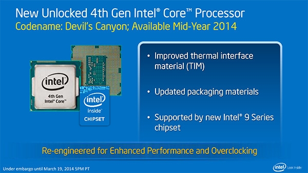 Презентация процессоров Intel Devil's Canyon